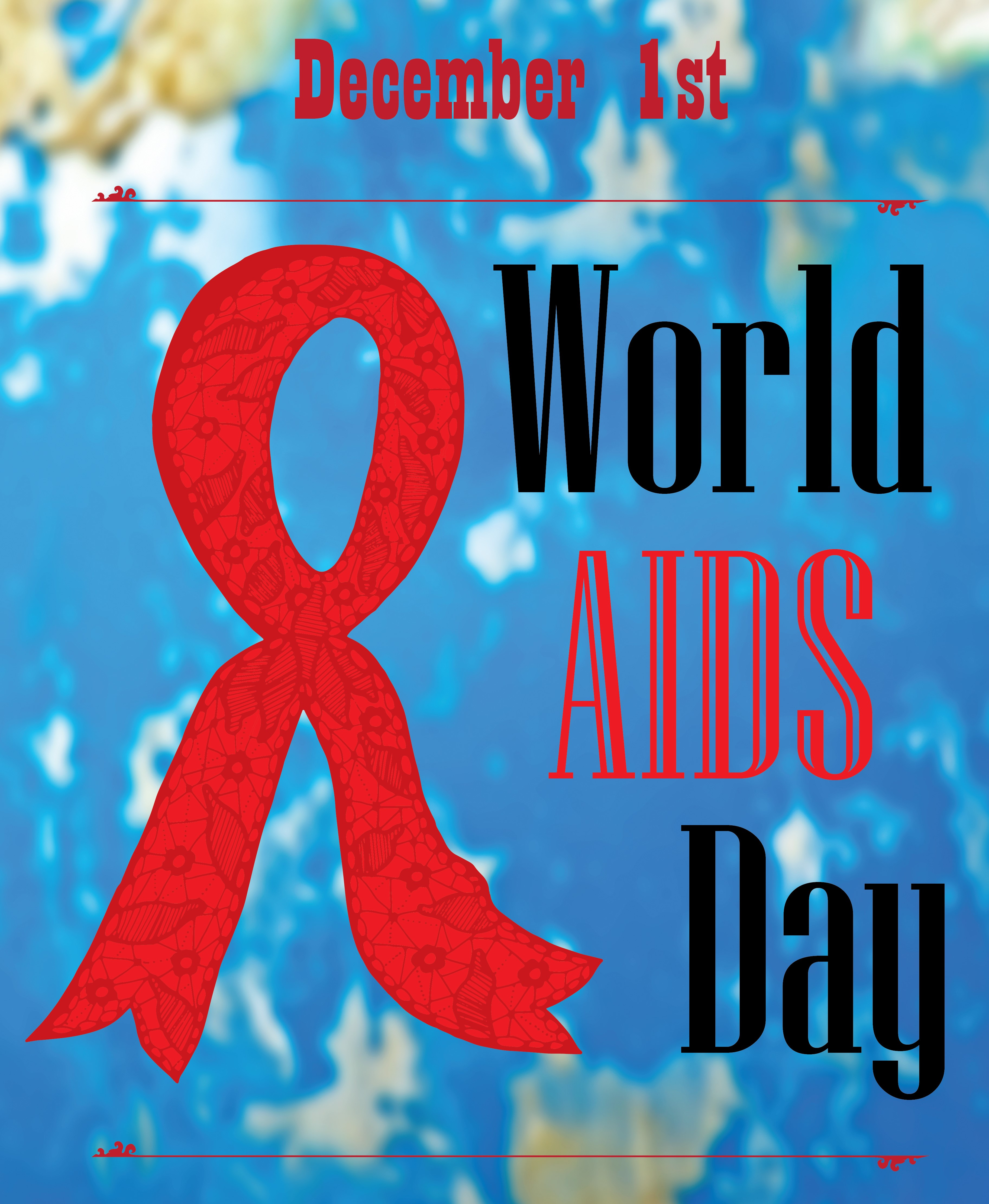 World aids day poster on blue background east central health district east central health district 1916 north leg rd augusta ga 30909 706 667 4326 1betcityfo Choice Image