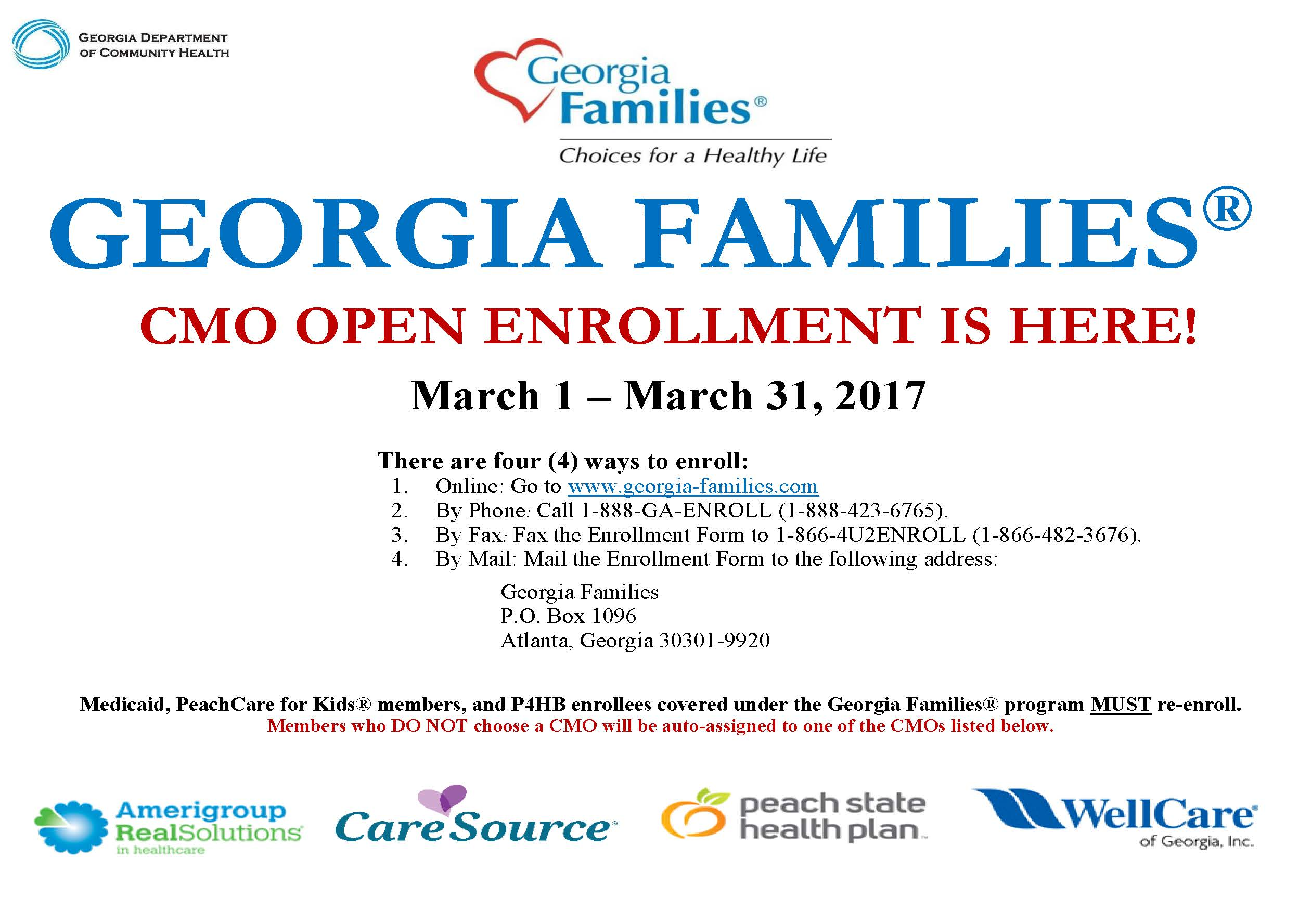Its the last week for cmo open enrollment east central health its the last week for cmo open enrollment east central health district 1betcityfo Choice Image