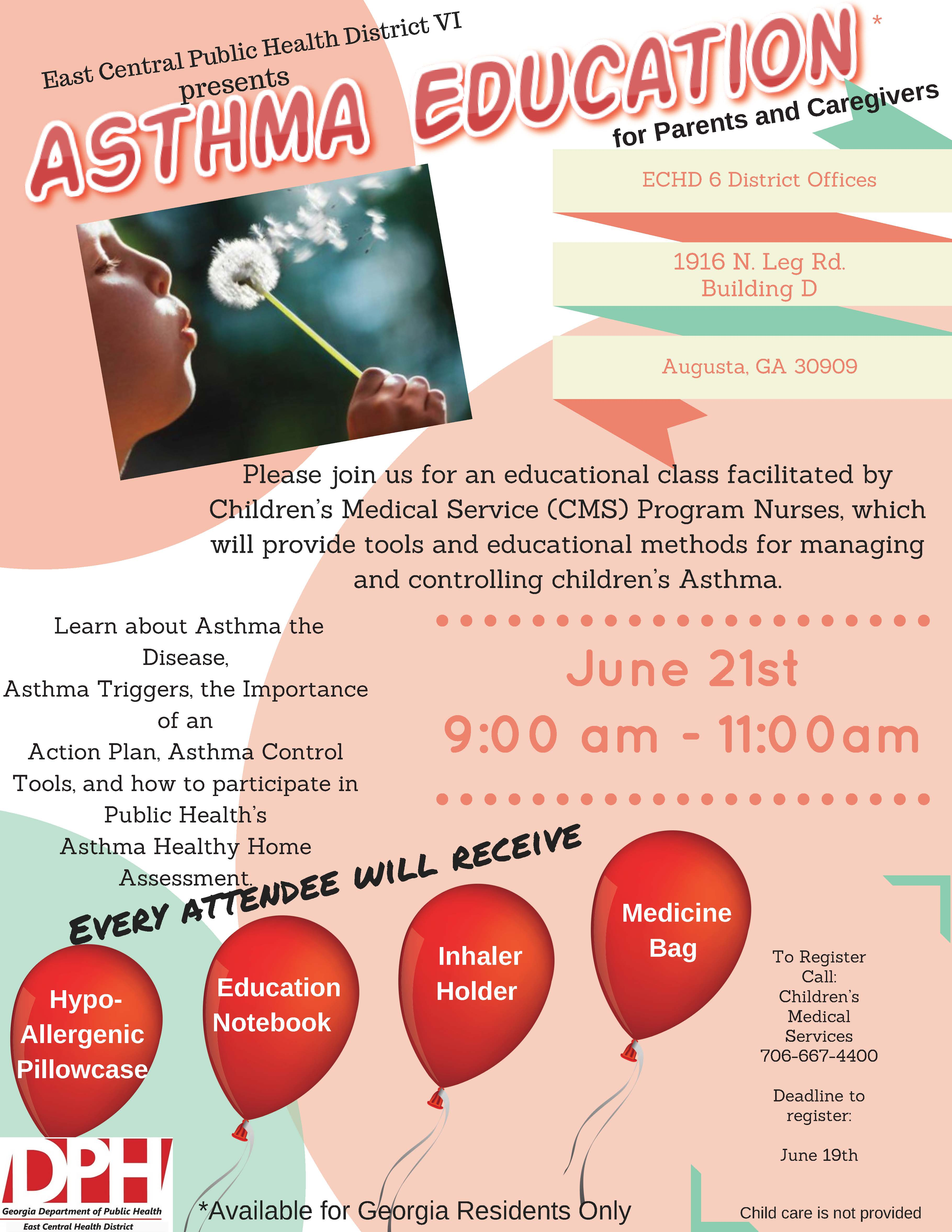 Last day to register for asthma education class east central details 1betcityfo Choice Image